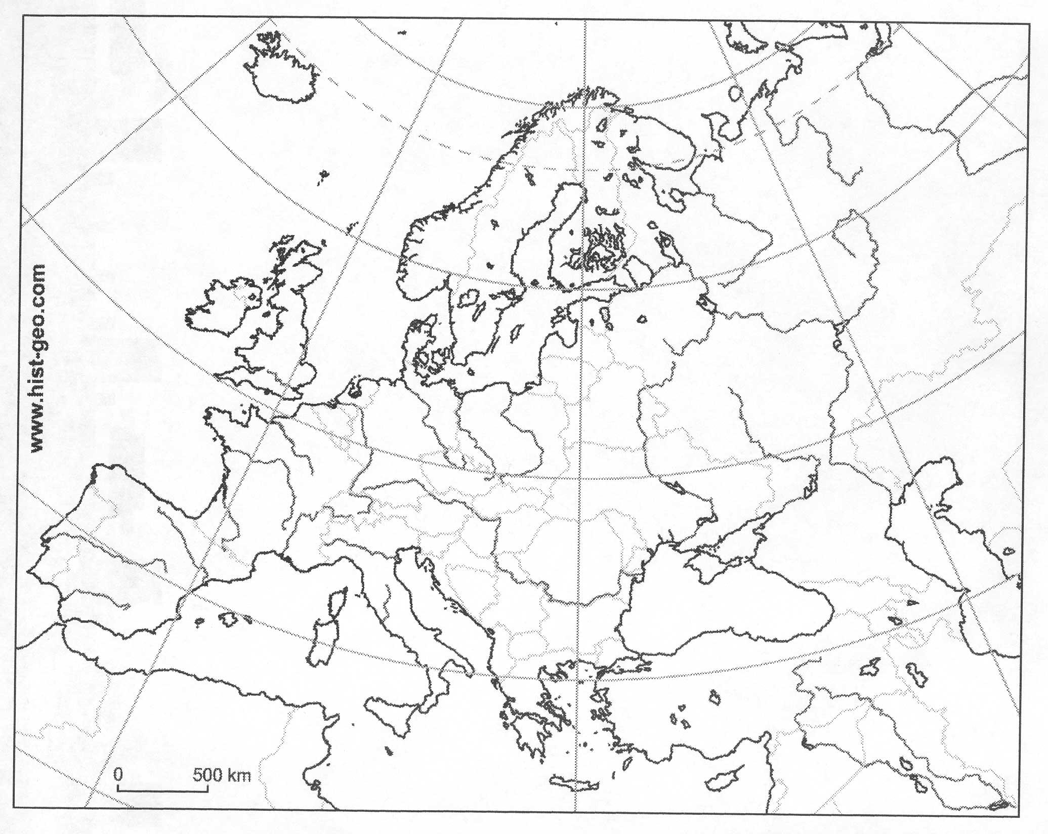 Europe 1848 Map Casami